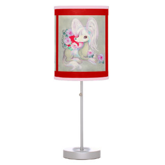 Chinese Crested Cute Puppy Dog Desk Lamp