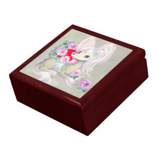 Chinese Crested Cute Puppy Dog Keepsake Boxes