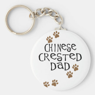 Chinese Crested Dad Keychain