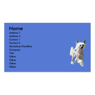 Chinese Crested DIVA Double-Sided Standard Business Cards (Pack Of 100)