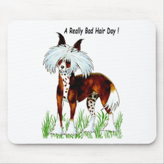 Chinese Crested Dog, Bad Hair Day Mouse Pad