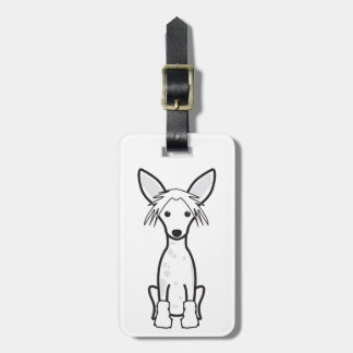 Chinese Crested Dog Cartoon Bag Tags