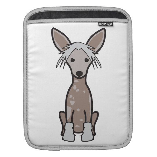 Chinese Crested Dog Cartoon Sleeve For iPads