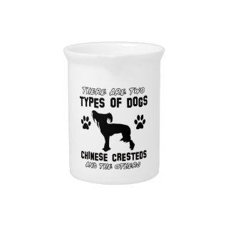 chinese crested dog designs beverage pitchers