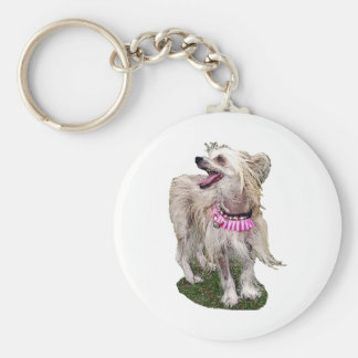 Chinese Crested Dog Keychain
