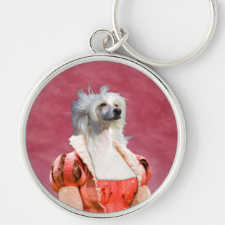 Chinese Crested Dog  Keychain Nobility Dogs Gift