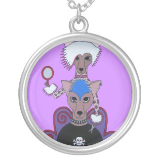 """Chinese Crested Dogs Necklace """"Doggie Do's"""""""