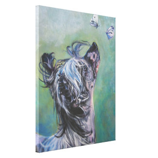 Chinese Crested Fine Art on Gallery Wrapped Canvas