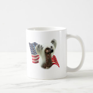 Chinese Crested Flag Coffee Mug