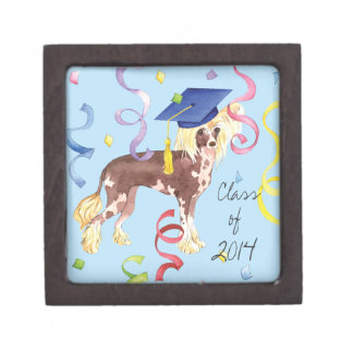 Chinese Crested Graduate Keepsake Box