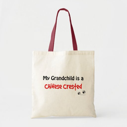 Chinese Crested Grandchild Tote Bags