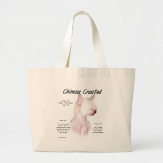 Chinese Crested (hairless) History Design Canvas Bag