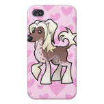 Chinese Crested (hairless) Love (add a pern!) Cover For iPhone 4