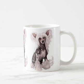 Chinese Crested Hairless Sit Classic White Coffee Mug