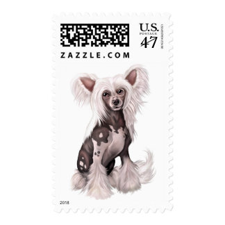 Chinese Crested Hairless Sit Stamp