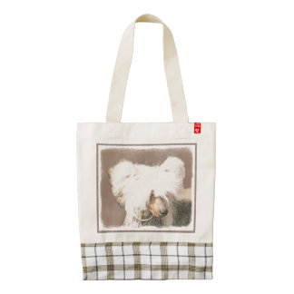 Chinese Crested (Hairless) Zazzle HEART Tote Bag