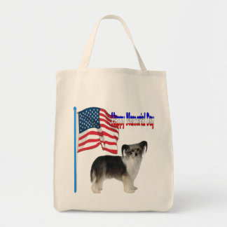Chinese Crested Happy Memorial Day Tote Bag