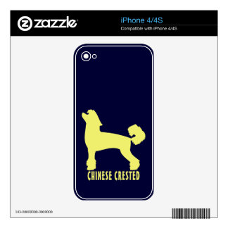 Chinese Crested iPhone 4S Decals