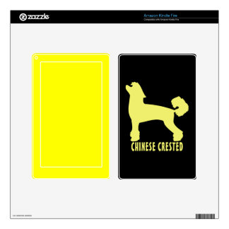 Chinese Crested Kindle Fire Decal
