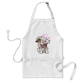 Chinese Crested Love (hairless) Adult Apron