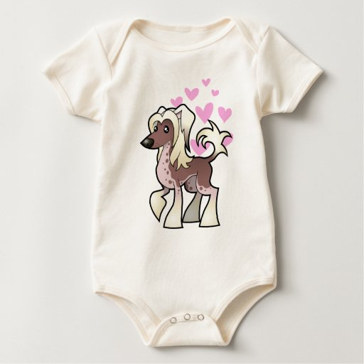 Chinese Crested Love (hairless) Bodysuits