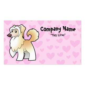 Chinese Crested Love (powderpuff) Double-Sided Standard Business Cards (Pack Of 100)