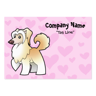 Chinese Crested Love (powderpuff) Large Business Cards (Pack Of 100)