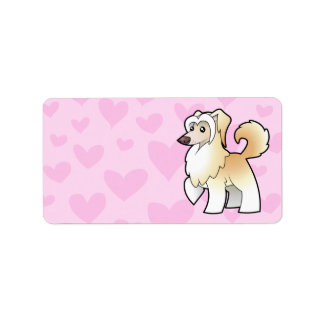 Chinese Crested Love (powderpuff) Personalized Address Label