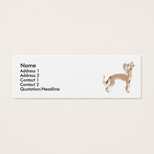 Chinese Crested Mini Business Card