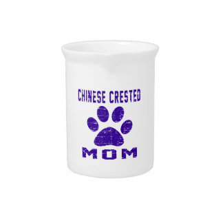 Chinese Crested Mom Gifts Designs Beverage Pitcher