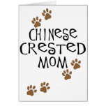 Chinese Crested Mom Greeting Card