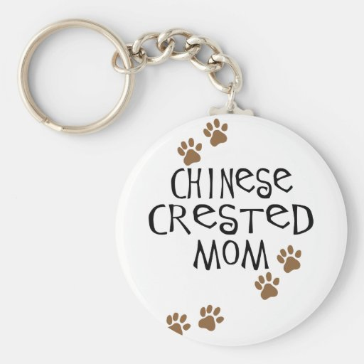 Chinese Crested Mom Key Chains