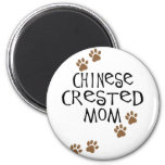 Chinese Crested Mom Refrigerator Magnets