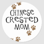Chinese Crested Mom Round Stickers