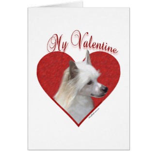 Chinese Crested My Valentine Card