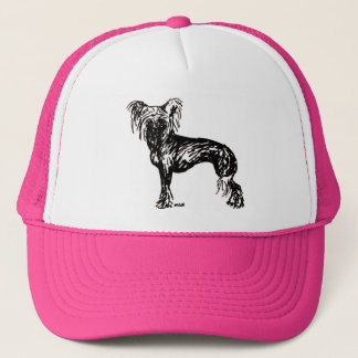 Chinese Crested Original Dog Sketch Trucker Hat