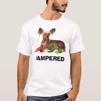 chinese crested, PAMPERED POOCH T-Shirt
