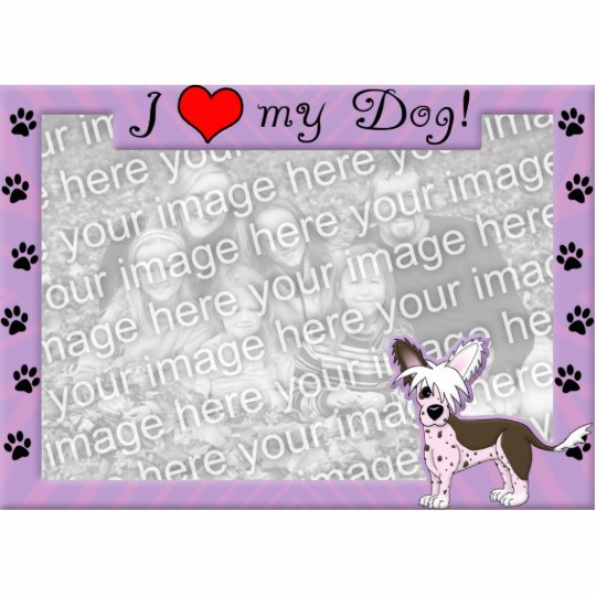 Chinese Crested Photo Frame Cutout