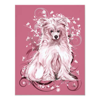 Chinese Crested Pink Card