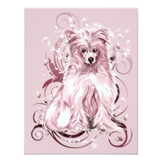Chinese Crested Pink NB Card