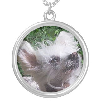 Chinese_Crested.png Silver Plated Necklace