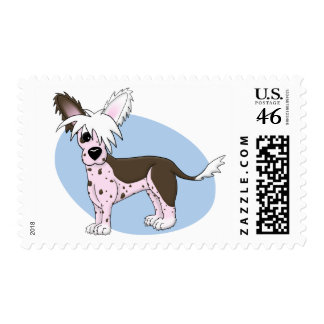 Chinese Crested Postage Stamps