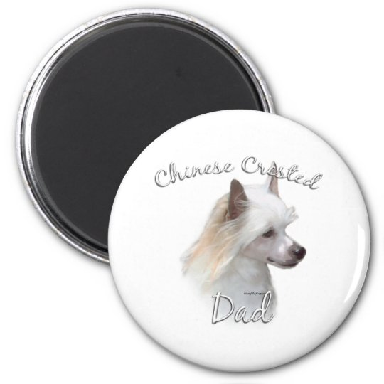 Chinese Crested (powder) Dad 2 Magnet
