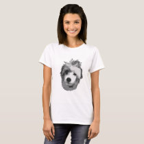 Chinese Crested Powderpuff Confused Puppy T-Shirt
