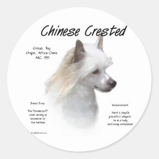 Chinese Crested (powderpuff) History Design Sticker