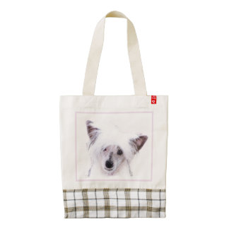 Chinese Crested (Powderpuff) Zazzle HEART Tote Bag