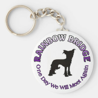 CHINESE CRESTED RAINBOW BRIDGE KEYCHAIN