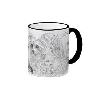 Chinese Crested Ringer Coffee Mug