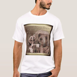Chinese Crested Sheeba Golden Brown T-Shirt