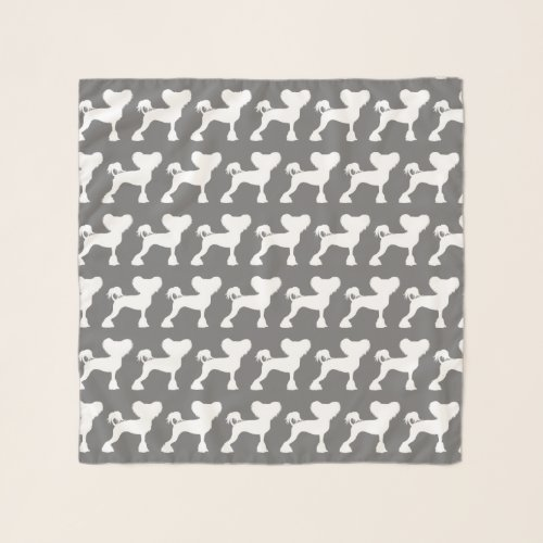 Chinese Crested Silhouettes Pattern Scarf